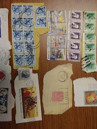 A bunch of random US stamps PURCELLVILLE