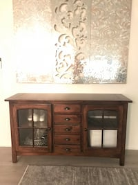 Brown wooden dresser only  Los Angeles, 91423