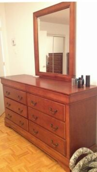 brown wooden dresser with mirror Laval, QC, Canada