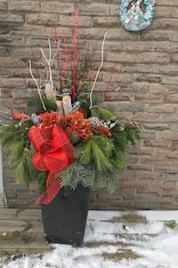 Xmas arrangement with planter Mississauga, L4Y 2J3