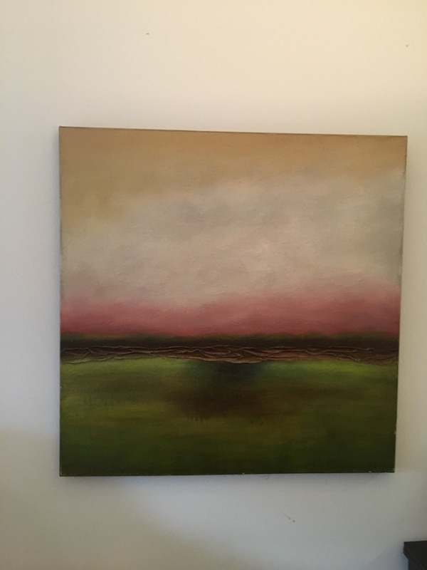 Brown, pink, white abstract painting