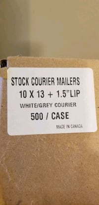 500 10x13 poly mailers courier shipping bags white Toronto, M3H 2T6