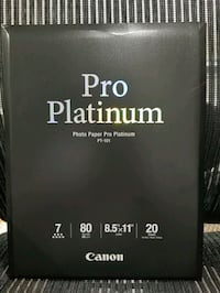 Canon Photo Paper Pro  Platinum 8.5 x 11. 20 sheets /package. .Lot of  Bel Air, 21014