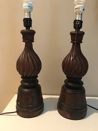 Solid wood carved lamps Seattle, 98125