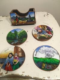 Hand painted coasters from Ecuador Toronto, M4K 3E5