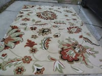 white, brown, and green floral area rug Skokie, 60076