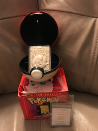 Pokemon ball with23k gold plated trading card