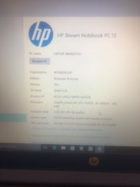 Hp stream laptop comes with windows 10 and  4 Tb hard drive as well Stafford, 22556