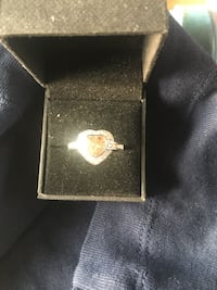 Silver 925 Stamped Morganite Ring Size U New in Box  Bishop Auckland, DL14 9DB