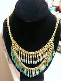 white and green beaded necklace Waco, 76711