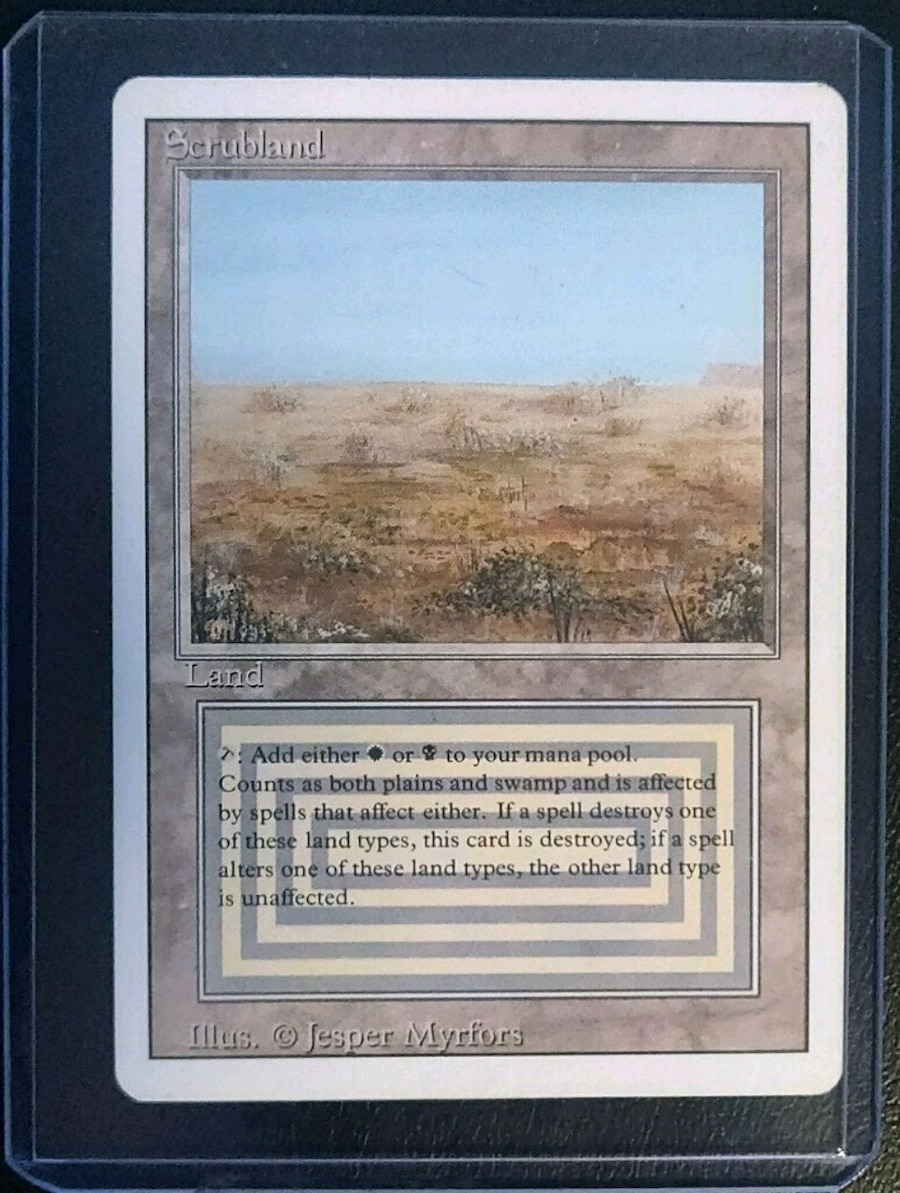 Photo Magic: The Gathering Revised Edition Scrubland