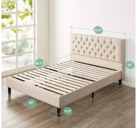 Brand New Queen Size Zinus  Classic Modern Tufted Platform Bed Frame New In Box! Riverside, 45404