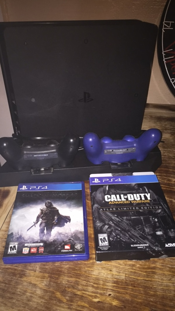 PlayStation 4  Ps4  Games controllers and stand included