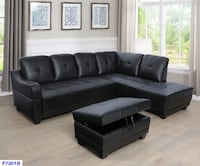 $29 down no credit needed, 90 days NO INTEREST black leather sectional College Park