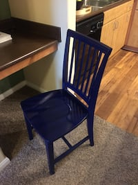 blue wooden armless chair San Antonio, 78230