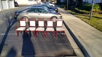 Redwood chairs with white seats Germantown, 20876