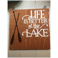 brown and white wooden wall decor Hamilton, L8L 7N4