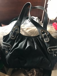 Black leather NINE & CO. shoulder bag Freeport, 11520
