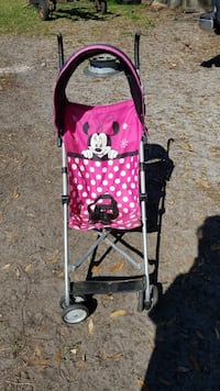 baby's pink and white Minnie mouse umbrella stroller Bartow, 33830