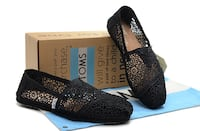 Brand new with tags in box Toms black Crotchet shoes  Surrey, V3S 7M4
