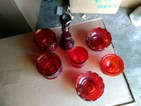 Antique Red glass