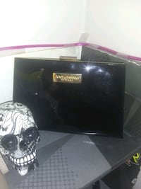 Woman's black clutch