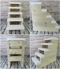 White and Natural 5 step Stairs Mission