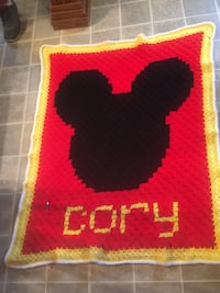 Mickey blanket. 160 my mom does these and they are awesome  Northport, 35476