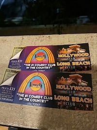 2ticks to The Laugh Factory in Hollywood