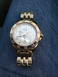 round silver Michael Kors chronograph watch with l Eureka, 95503