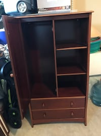 brown wooden cabinet with shelf Cypress, 77433