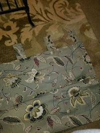 Pier one Floral Sage green tab top curtains