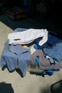 Bin full of baby clothes 3mo-2t  Riverside, 92503