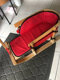 Red and gray pet bed