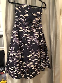 Purple camo pattern strapless dress, size 10, with pockets New Haven
