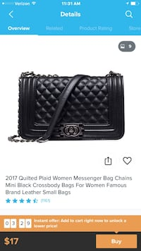 black leather Chanel wallet screenshot Coral Springs, 33067