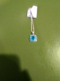 silver and blue gemstone pendant necklace Las Vegas, 89147