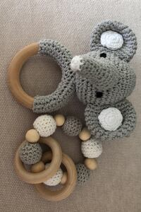 Baby toy newborn wooden knitted NEW Vaughan, L4L