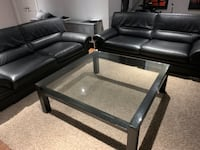 Glass top coffee table - Barrhaven Pick up only Ottawa, K2J 0T4