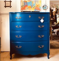 Blue Laquered Vintage Chest of Drawers  Vienna, 22182