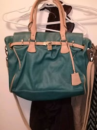 blue and brown leather 2-way handbag Winnipeg, R2W
