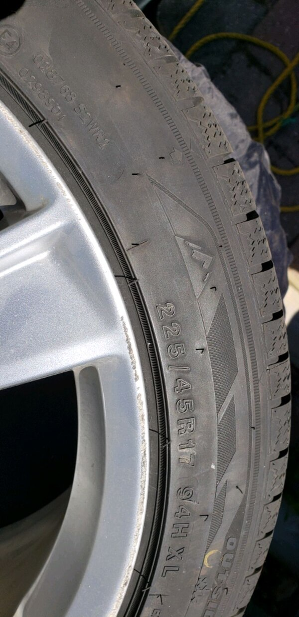 snow tires and rims for a mercedes 1