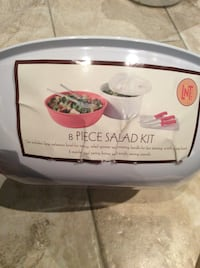 **New**  8 piece Salad Set ~ includes, large bowl, spinner, knives, chopping board, tongs Calgary, T2Z 1W9