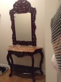 Brown wooden frame wall mirror Newmarket, L3X 2W8