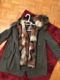 black and brown fur coat Mississauga, L4X 1V8