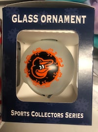 Ravens and orioles glass ornaments 72 km