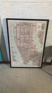 Black frame with New York picture  Anaheim, 92807