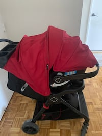 Safety first stroller and car seat with base