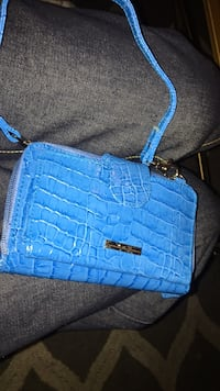 blue leather crocodile skin shoulder bag Kenosha, 53143