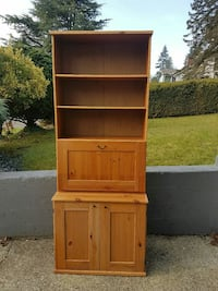 solid cabinet with shelves